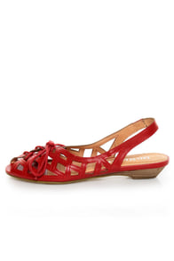 Chelsea Crew Melissa Red Cutout Sandals