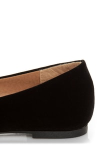 City Classified Sadler Black Pointed Flats