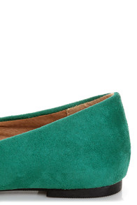 City Classified Sadler Dark Teal Pointed Flats at Lulus.com!