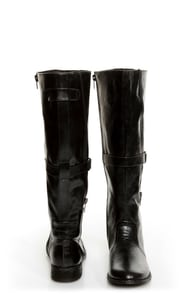C Label Alexis 16 Black Unzipped Riding Boots at Lulus.com!