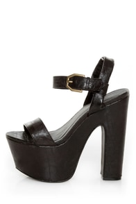 C Label Christian 8 Black Super Platform Sandals