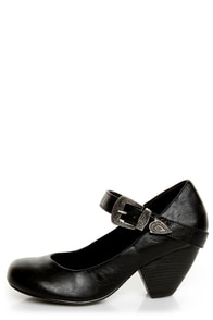 C Label Chuck 2 Black Mary Jane Goes West Heels