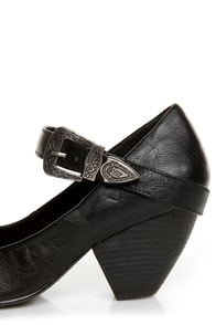 C Label Chuck 2 Black Mary Jane Goes West Heels at Lulus.com!