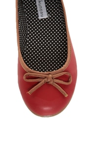 CL by Laundry Get Down Hudson Red and Tan Ballet Flats at Lulus.com!
