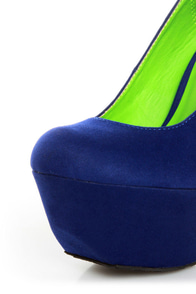 Dollhouse Kammy Blue Super Platform Heels at Lulus.com!