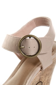 My Delicious Pail Blush Pink Take a Bow Chunky Heels