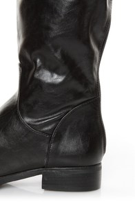 Fahrenheit Rooney 3 Black Knee High Riding Boots at Lulus.com!