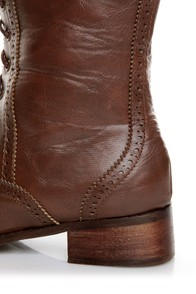 Break 3 Brown Brogue Lace-Up Oxford Boots at Lulus.com!