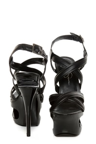 Jessica Simpson Andy Black Strappy Cutout Platform Pumps at Lulus.com!