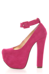 Luichiny Eye Doll Fuchsia Super Platform Heels at Lulus.com!