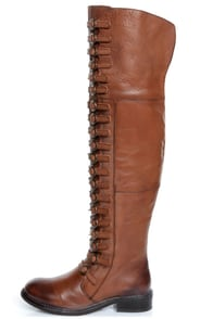 Luichiny True Fit Cognac Brown Leather Belts Galore OTK Boots