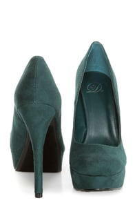 My Delicious Jones Dark Green Suede Platform Pumps at Lulus.com!
