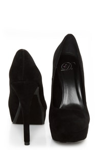 My Delicious Jones Black Suede Platform Pumps at Lulus.com!
