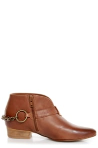 Sixtyseven Enrica Viriato Chestnut Winklepicker Ankle Boots at Lulus.com!