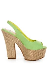 Machi Anita Mint Green Slingback Platform Heels at Lulus.com!
