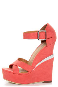 Michael Antonio Studio George Coral Platform Wedges