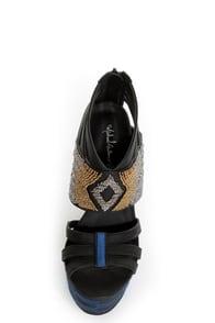 Michael Antonio Studio Taraji Black Beaded Platform Heels at Lulus.com!