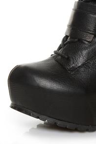 Matiko Emery Black High Tech Platform Combat Boots