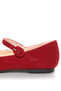Promise Sakova Red Mary Jane Ballet Flats at Lulus.com!
