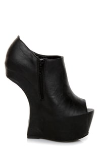 Privileged Keaton Black Shootie Heelless Platforms at Lulus.com!