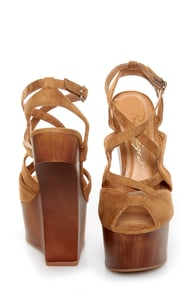 Privileged Sherman Tan Strappy Heelless Platforms at Lulus.com!
