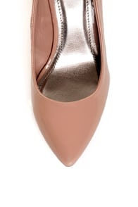 Qupid Tanya 01 Blush Patent Kitten Pumps at Lulus.com!