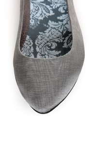 Rocket Dog Chamay Grey Watered Silk Pointed Flats at Lulus.com!