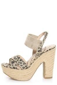 Rebels Ursula Leopard Print Platform Espadrille Sandals at Lulus.com!