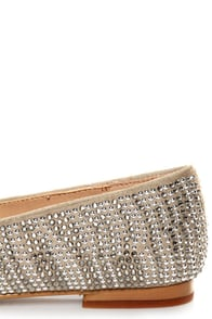 Steve Madden Conncord Pewter Studded Smoking Slipper Flats at Lulus.com!