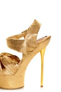 Shoe Republic LA Novela Gold Platform Heels at Lulus.com!