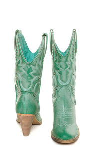 Very Volatile Denver Aqua Blue Embroidered Cowboy Boots at Lulus.com!
