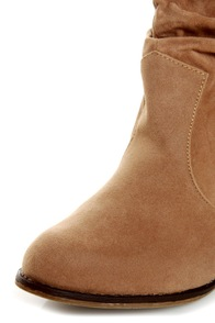 Diva Lounge Miles 03 Tan Velvet Slouchy Ankle Boots at Lulus.com!