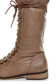 Yoki Deci 2 Beige Lace-Up Riding Boots at Lulus.com!