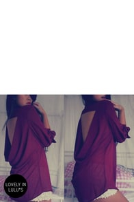 Holla Backless Young'n Sheer Burgundy Top at Lulus.com!