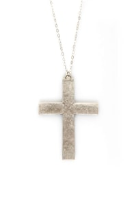 Necessary Medieval Cross Necklace at Lulus.com!