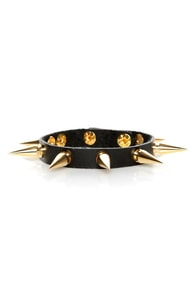 Be Like Spike Black Bracelet
