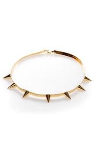 Spike vs. Spike Gold Necklace at Lulus.com!