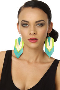 Claire Fong Sea Dragon Turquoise Earrings
