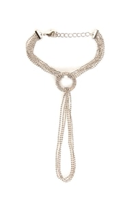 Give 'em the Ring-around Silver Harness Bracelet at Lulus.com!