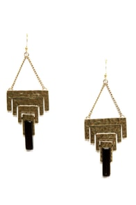 The Right Angles Gold Earrings