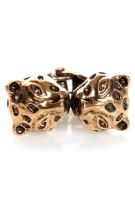 Born to be Wild Cats Gold Leopard Ring at Lulus.com!