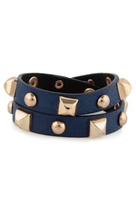Backstage Pass Studded Blue Cuff at Lulus.com!