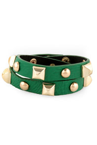 Backstage Pass Studded Green Cuff at Lulus.com!