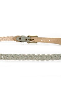 Here Comes the Braided Grey Belt at Lulus.com!