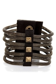 Wardrobe Warrior Studded Cuff at Lulus.com!