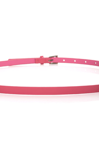 Yum Bubble Gum Pink Skinny Belt
