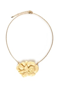 Briar Rose Ivory Rose Necklace at Lulus.com!