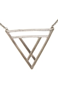 Tri Me Silver Triangle Necklace