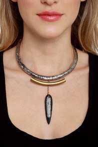 Fossil Record Collar Necklace at Lulus.com!