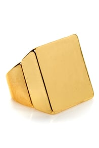 Square-y Stories Gold Square Ring